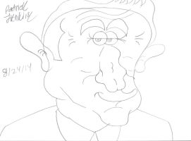 Robin Williams Finished Drawing by Thegarfieldtouch