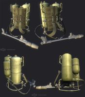 Flamethrower: Low-poly by Leo-TheLion