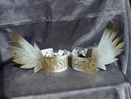 Winged Anklets or Armbands by Jedi-With-Wings