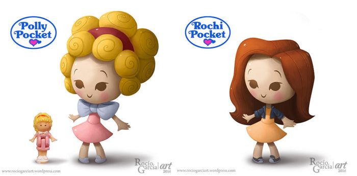Me as a Polly Pocket! by RocioGarciaART