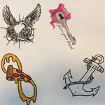 Practice Tattoo Designs by FlargleSnarfMuffin