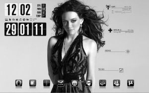 Rainmeter - Hilary Duff by Athox