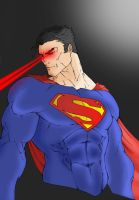 Superman coloured by jackbauer89