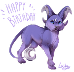 Happy Birthday Lunewen by LuckyPaw