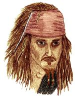 Jack Sparrow in color by JediKnight14