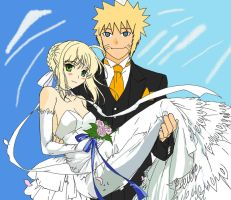 Wedding day SaberxNaruto by Shugokunisaki