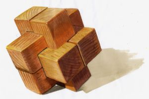 Materials: Wooden Puzzle by Faeriedreamer
