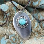 Silver Spoon Pendant with Turquoise by Doctor-Gus