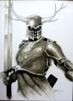 Green Knight HC 2011 ConSketch by RichardCox