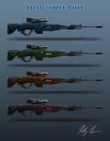 Titan Sniper Rifle: Sniper Gun Variation by lamri247