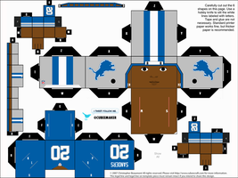 Barry Sanders Lions Cubee by etchings13