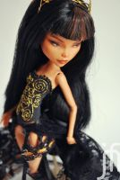Monster High Cleo de Nile Black Widow repaint by Moniee