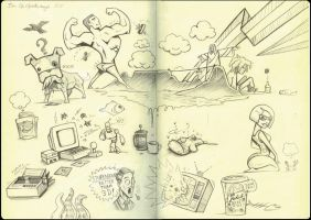 Moleskine 1: fake sketchbook by Ben-G-Geldenhuys