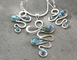 Labradorite set by Arctida