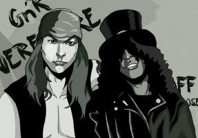 Estranged... Axl and Slash by deanfenechanimations
