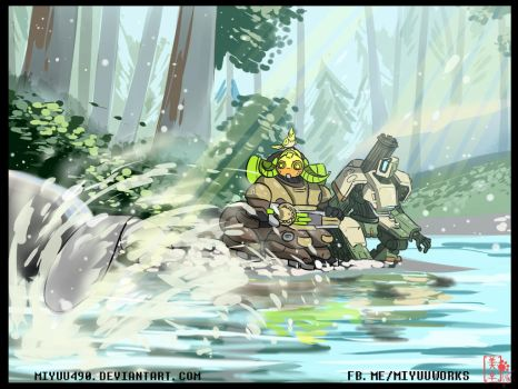 Knowing the nature with Bastion and Orisa p.3 by miyuu490