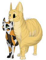 Goldenflower and Tawnypaw by KZcat
