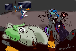 Typical day for the Brony Group by Digital-Quill-Studio