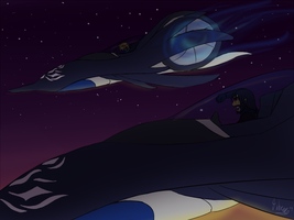 Night Flight by silver-dragonetsu