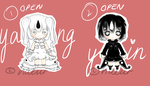 YIN AND YANG ADOPTS (OPEN) by naeur