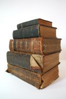Stock - Pile of Old Bibles 2 by OghamMoon