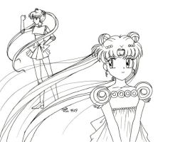 Retro Art: Sailor Moon Hime by rioka
