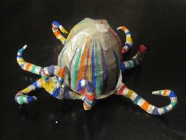 Paper Mache Octopus by r-a-i-n-y