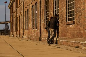 Old factory and a couple by Krash-Team
