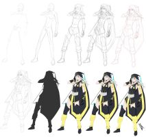 Step by Step: Ashe by Johnny-Wolf