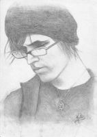A portrait of Mikey Way by smithk
