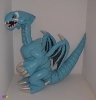 Blue Eyes White Dragon plushie by waynekaa