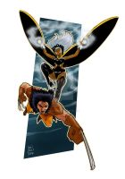 Wolverine and Storm by Marcelo-Baez