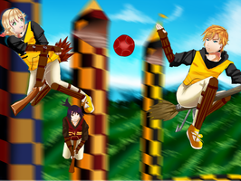 HA: Hufflepuff vs. Gryffindor2 by kentarocks