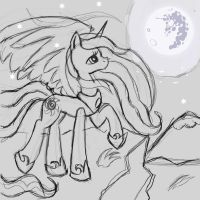 Babscon Exclusive: Celestia Sketch by The-Paper-Pony