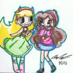 Star Butterfly and Mable Pines by KingofBeastsGrimmjow