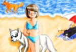 Day on the beach by tricksterfox18