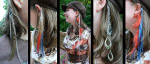 Feather Hair Clips by GuacamoleOg