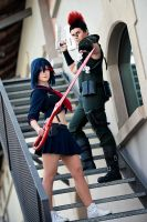 Kill la Kill - Ryuko and Tsumugu by Lie-chee