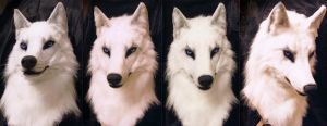 Nagi white wolf mask by SnowVolkolak