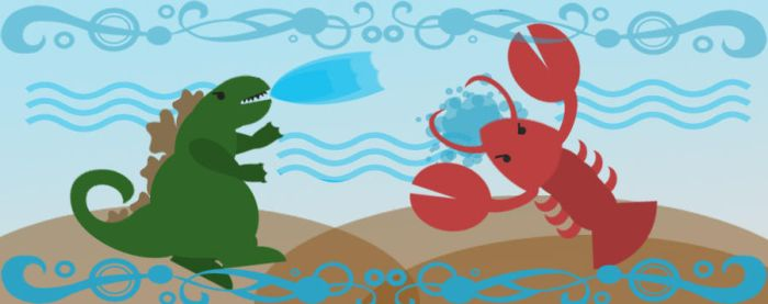 Godzilla vs The Sea Monster cute out by Notason89