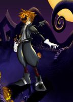 Sora -Halloween town- coloured by Blackheartprincess