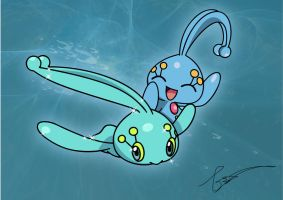 Traveling Manaphy by FraankBiebs