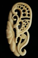 Butterfly - Bone carving by Steve-Thorpe