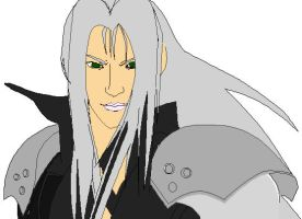 MS- Paint: Sephiroth WIP 2 by mel-lyks-cereal