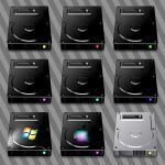 Dark Hard Drive Icons by JollyGreenJustin