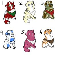 Wolf Adopts Batch 1 by razorflame45