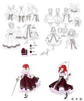 dress design sketch Amy Sorel by evs-eme