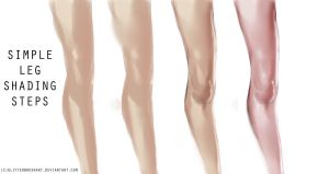 Simple leg shading tutorial by GlitterBrushArt
