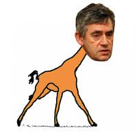 Gordon Brown, Pringles Giraffe by takeshita-kenji
