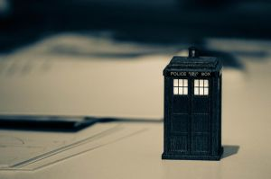 Mini TARDIS through time and paper by pencilfox